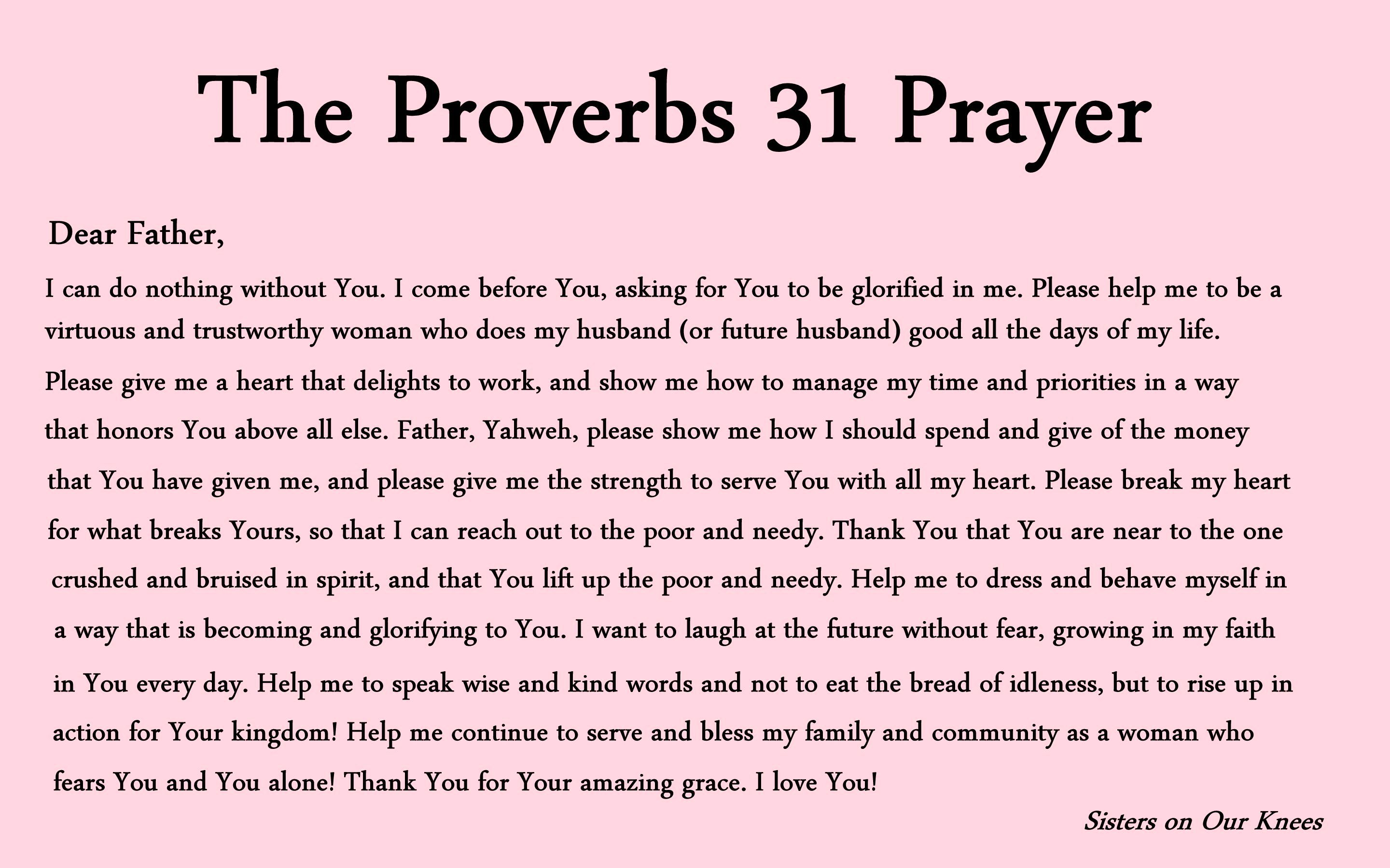 Proverbs 31 Prayer